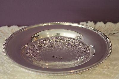 "Silver Plated  6-1/4"" Footed Primrose Plate"