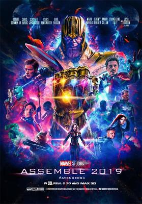 FILM COVER Print Decor The Avengers 4 Endgame Movie Poster 36x24 18x12""