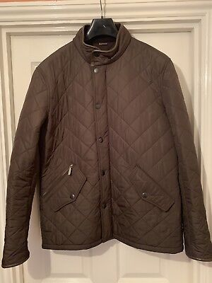 Mens Barbour Powell Jacket Olive/Green - Large