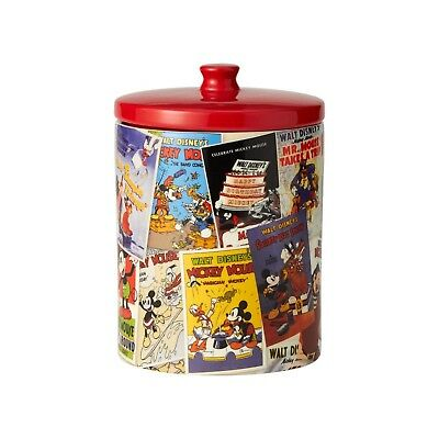 6001022 Mickey Mouse collage Ceramic Canister Cookie Jar NIB