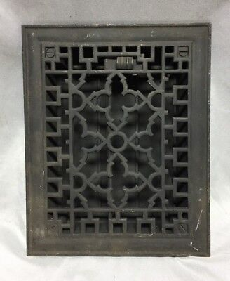 Antique Cast Iron Gothic Heat Grate Floor Register 6X8 Vintage Old 531-18C