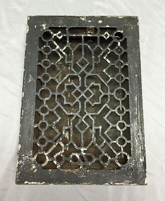 Antique Cast Iron Gothic Heat Grate Floor Register 8X12 Vintage Old 533-18C
