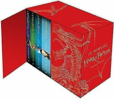 Harry Potter Complete Collection Books Box Set J.K. Rowling Deluxe Hardback Red