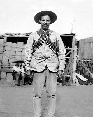 Mexican General FRANCISCO PANCHO VILLA Glossy 8x10 Photo Vintage Poster Print