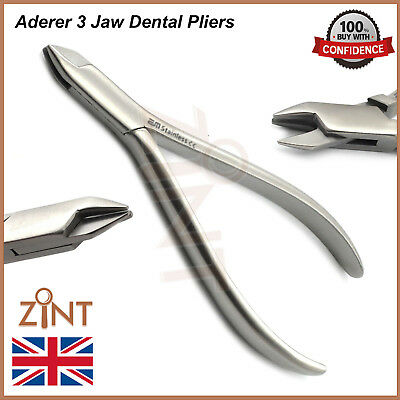 Dental Aderer Plier Three Jaw Orthodontic Tooth Braces Wire Bending Pliers New