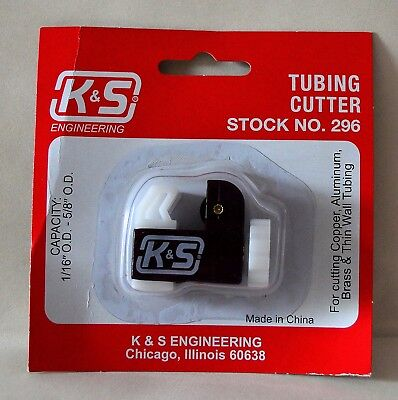 """K&S Mini Tube Cutter - Capacity 1/16""""- 5/8"""" OD for modelling and scratch build"""