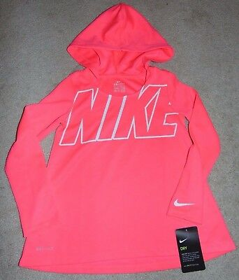 NWT NIKE GIRLS 7-16 Dri-FIT Therma Hoodie Choose Size 806016 065 ... 0b504a53b