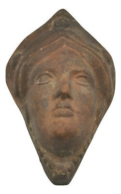 Art Nouveau French Antique Wall Plaque Womans Lady Face Decorative Terracotta