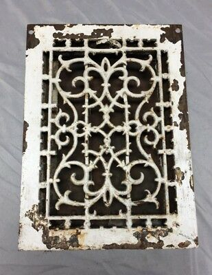 Antique Cast Iron Decorative Heat Grate Floor Register 8X12 Vintage Old 534-18C