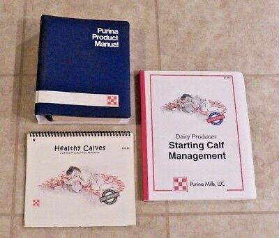 PURINA  & RALSTON -  NEW & VINTAGE - Dairy Calf Product Manual Books