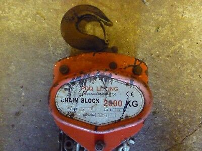 PDQ Lifting Chain Chain Block Hoist 2000 Kilogram