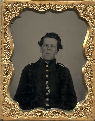 Union Civil War Soldier Ambrotype in Thermoplastic Case