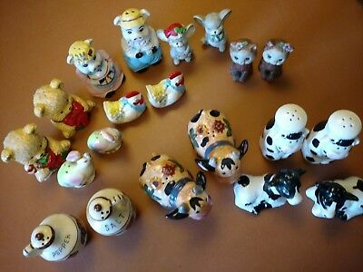 Lot of 10 Vintage Salt and Pepper Shakers
