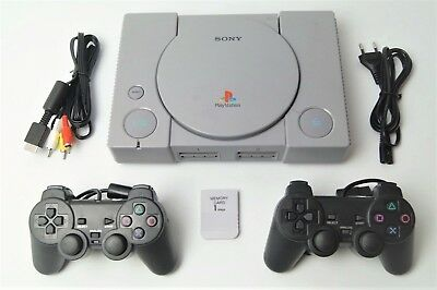 Sony Playstation 1 / PS1 FAT Konsole + 2 Controller + Kabel
