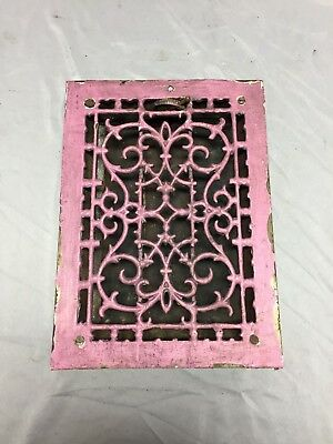 Antique Cast Iron Decorative Heat Grate Floor Register 8X12 Vintage Old 540-18C