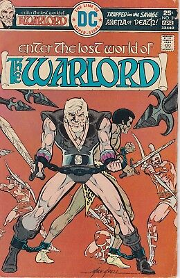 The Warlord #2Fn- (1976, Dc Comics, Bronze Age, Mike Grell)