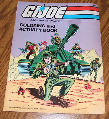 GI Joe A Real American Hero Coloring/Activity Book Hasbro 1982 Vintage