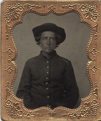 Crystal Clear Civil War Soldier 1/6 Plate Tintype
