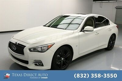 2015 Infiniti Q50 Premium Texas Direct Auto 2015 Premium Used 3.7L V6 24V Automatic RWD Sedan Moonroof