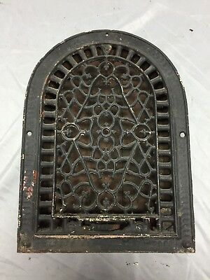 Antique Cast Iron Arch Dome Top Floor Register Heat Grate 8X12 Old Vtg 541-18C