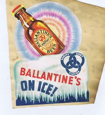 Ballantine's On Ice Export  C1937 beer point of sale sign  #40