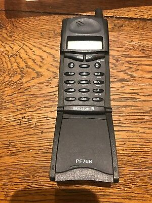 Vintage Ericsson PF768 mobile(with box, manual, charger and case) (from 1999)
