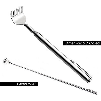 Hot Sale 1X Modish Back Scratcher Telescopic / Extendable Stainless Steel New HL