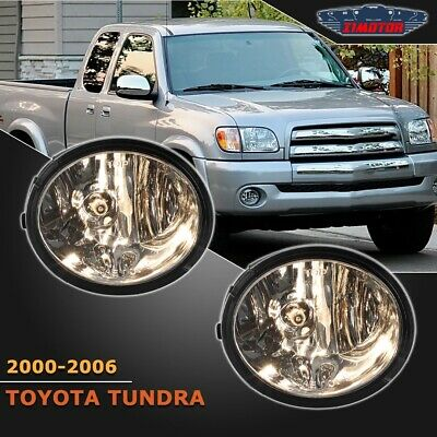 Fit Toyota Tundra 00-06 Clear Lens Pair Bumper Fog Light Lamp+Wiring+Switch Kit