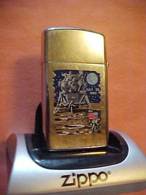 2-Sided Town & Country Zippo Lighter - The Original Moon Landing
