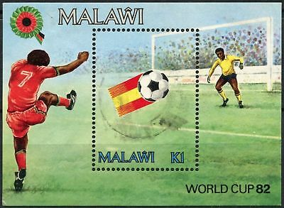 Malawi 1982 SG#MS661 World Cup Football Used M/S #D81136