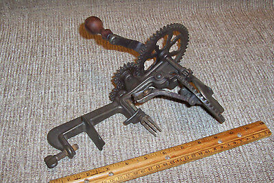Pat 1898 Turntable '98 Apple Peeler Old Antique Country Kitchen Tool