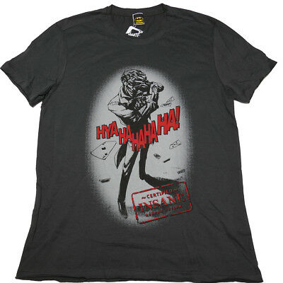 Batman, The Joker - Certified Insane T Shirt Size:L - NEW & OFFICIAL