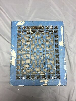 Antique Cast Iron Decorative Heat Grate Floor Register 8X10 Vintage Old 544-18C