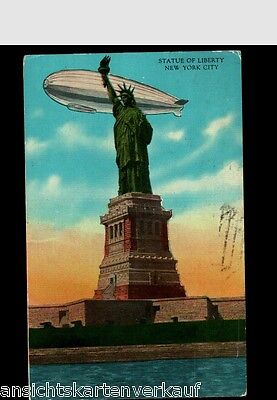 509.753  New York City, Statue of Liberty, Zeppelin, gl1931