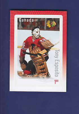 Tony Esposito 2015 Canada Post Great Canadian Goalies STAMP Card