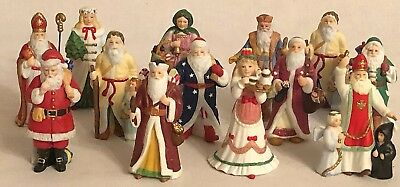 Lenox 1994 Porcelain Miniature Santa Collection Lot Of 11 Old World