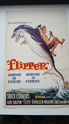 Flipper Belgian Movie Poster Chuck Connors