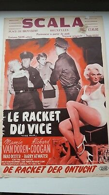 Vice Raid Belgian Movie Poster Mamie Van Doren Richard Coogan