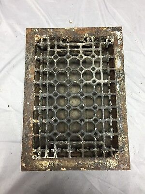 Antique Cast Iron Decorative Heat Grate Floor Register 8X12 Vintage Old 547-18C
