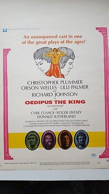 Oedipus The King Movie Poster Christopher Plummer Orson Welles Lilli Palmer