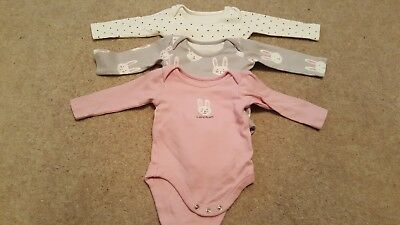 John Lewis Long Sleeve Vests 0-3 Months Very Good Condition