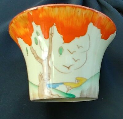 Clarice Cliff art deco small bowl- 8.5 x5.5cm- excellent condition