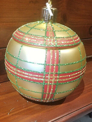 2015 FTD Holiday Delights Christmas Ornament Container/Candy Jar/Cookie Jar
