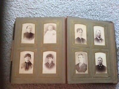Antique Vintage Photo Album with Pictures