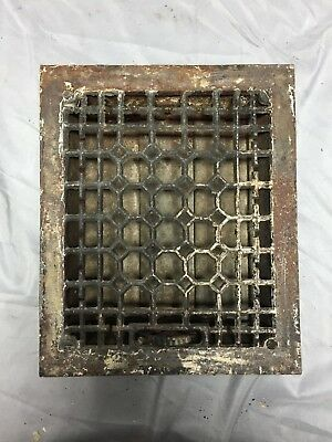 Antique Cast Iron Decorative Heat Grate Floor Register 8X10 Vintage Old 552-18C