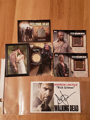 Andrew Lincoln Walking Dead Autograph Plus Shadow Box Card & Negan Bat Card