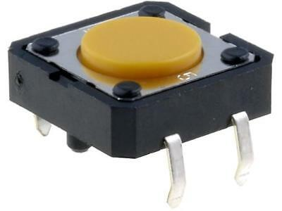 5x B3F-4005 Microswitch 1-position SPST-NO 0.05A/24VDC THT 2.55N 12x12mm OMRON