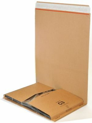 50 x C3 BOOK WRAP BUKWRAP POSTAL BOXES MAILERS 311x240x50mm FREE DELIVERY