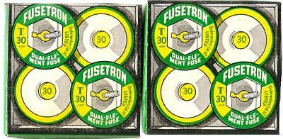 Fuses 8 Fusetron T30 Amp Dual Element Time Delay Buss Bussman Cooper Tested New