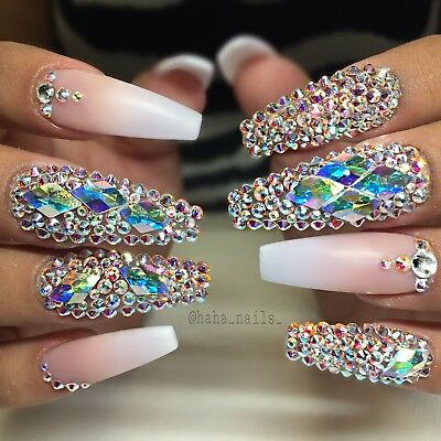 Gorgeous Swarovski Rhinestones For Nail Art Crystal Ab Mixed Sizes Available